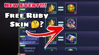 New Event Mobile Legends | Free Ruby Skin? 🤔