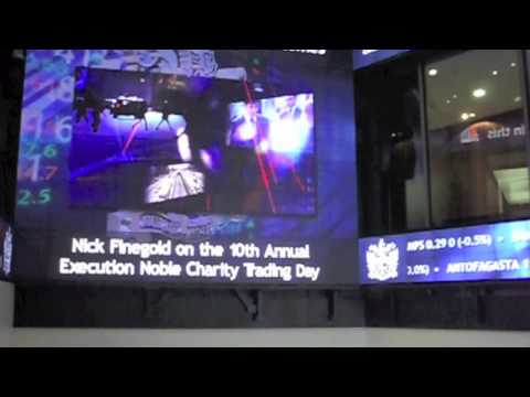 Nick Finegold Opens the London Stock Exchange