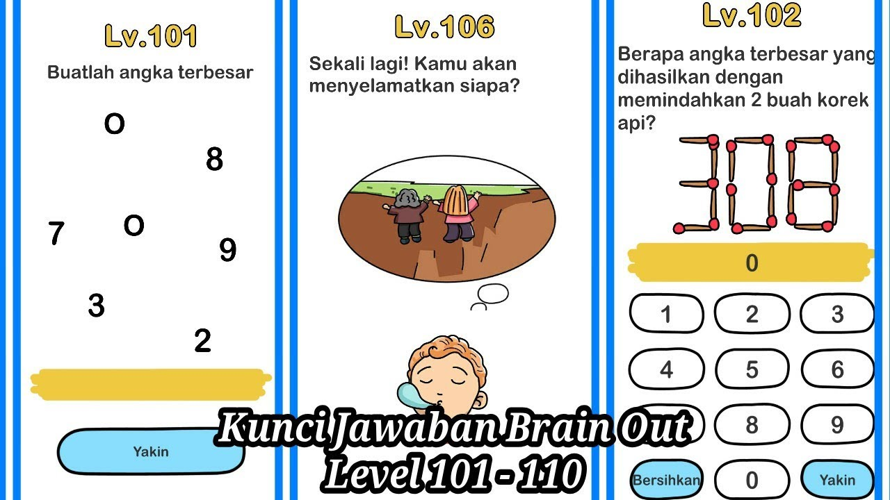 Kunci Jawaban Brain Out Level 101 110 Youtube