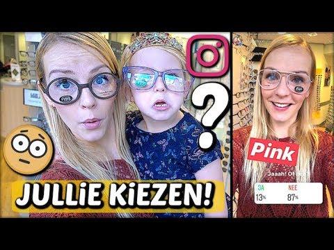 JULLIE BEPALEN MiJN NiEUWE BRiL 🤓 ( via instagram) | Bellinga Familie Vloggers #1153
