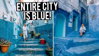 This Entire Moroccan City is BLUE! Exploring Chefchaouen & Fes Medina