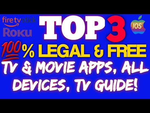 👉TOP 3 💯% LEGAL & FREE MOVIE & TV APPS, IOS, ROKU, FIRESTICK, CHROMECAST👈