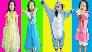 수지의 옷갈아입기 놀이 공주드레스 아기상어 번개파워 코디 Suji Pretend Play with Princess Dress Transform