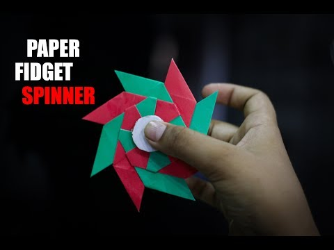 How to make paper fidget spinner without bearing-diy paper fidget spinner-creative paper craft