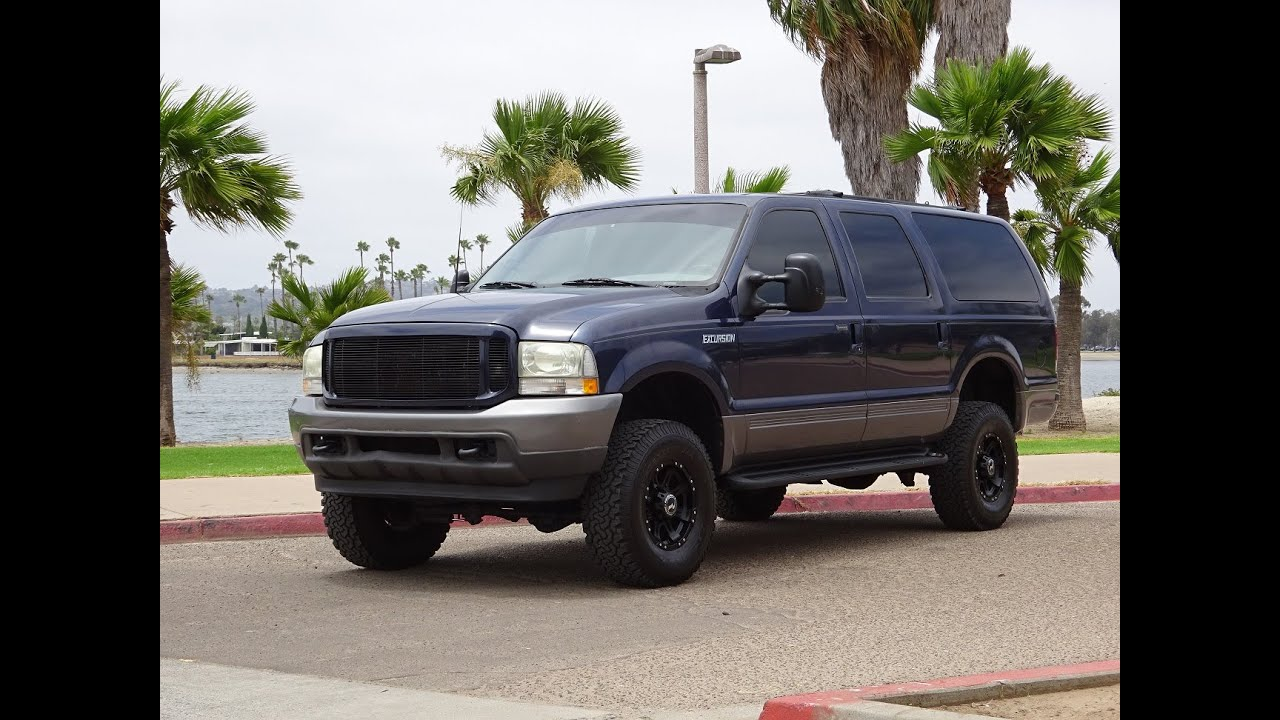 Ford Excursion Xlt X Leather Loaded Power Seats K Miles Walk Around