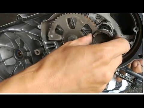 cara memperbaiki kick starter macet pada motor matic