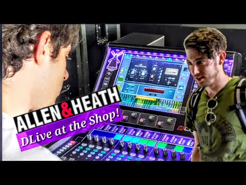 S4e5 Allen & Heath DLive C1500 At The Shop, Live Audio Engineers Mixing