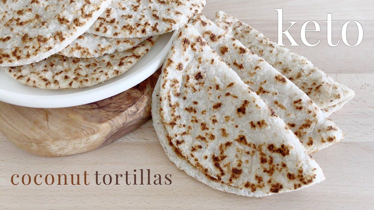 Keto Coconut Tortillas | Vegan