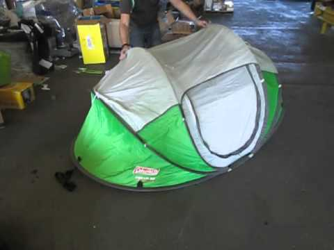 Coleman Pop-Up Tent & Coleman Pop-Up Tent - YouTube