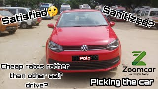 Car pickup process|| 100% sanitized || Zoomcar self drive car rental || Zoomcar app screenshot 2