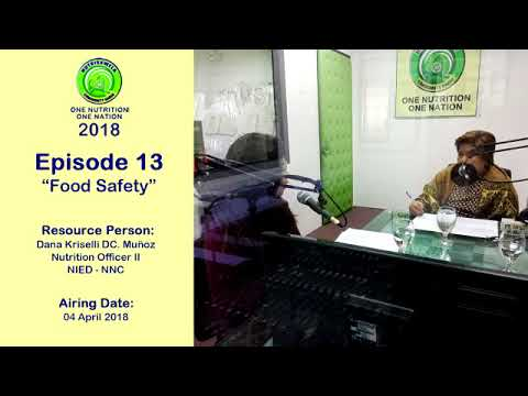 One Nutrition, One Nation Episode 13 - Food Safety