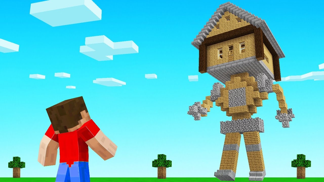 I Built A WALKING HOUSE in Minecraft!