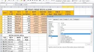 Giải đề 2 Excel Bảng kế toán nhập hàng
