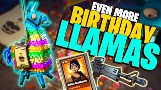 I HAVE INSANE LLAMA LUCK!!! | Fortnite Save the World Birthday Llama Opening