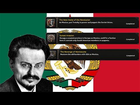 HoI4 Guide - Mexico: Revenge of Montezuma - New Home of the Revolution - Sunset Invasion Achievement