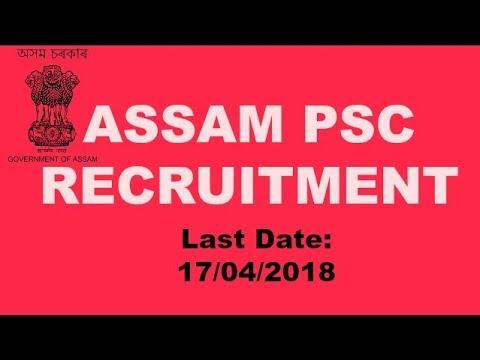 Assam PSC  Recruitment 2018 - Senior Information & Public Relation Officer [6 Posts]
