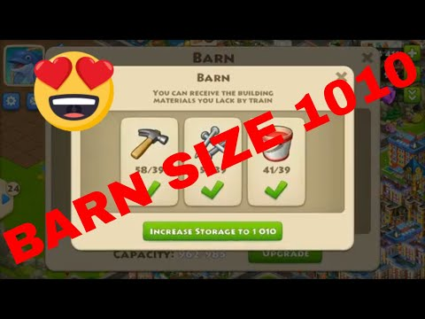 TOWNSHIP GAMEPLAY MY BARN UPGRADED TO 1010