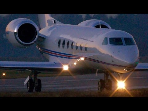 SaxonAir Gulfstream G550 Take-Off at Bern