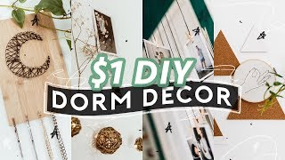 $1 Diy Dorm Room Decor (2018) ✏️ Super Easy   Aesthetic // Lone Fox