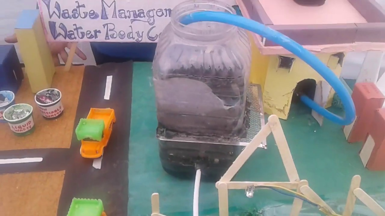 science project for waste management got 1st position youtube