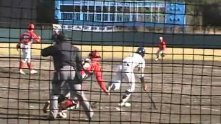 2011年3月2日オープン戦 立教大vsトヨタ自動車 空見球場 ※かぶっていて...