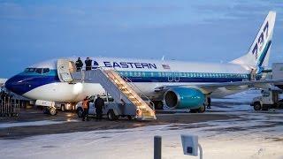 Eastern Air Lines (Florida Panthers) 737-8CX [N277EA] Dusk Landing at Calgary Airport ᴴᴰ