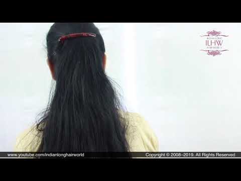 everyday-flat-ponytail-hairstyle|-flat-ponytail-using-flat-hair-clip|-quick-flat-ponytail-hairstyle.