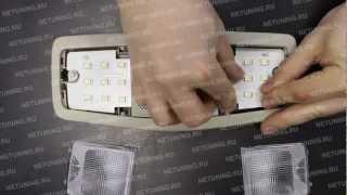 Как установить набор светодиодных ламп в светильник