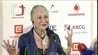 Tisková konference with Helen Mirren / Press conference with Helen Mirren and Taylor Hackford