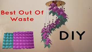 DIY|Best Out Of Waste|Wall Hanging|Room Decor|Wall Hangning Craft Idea With Egg Tray||