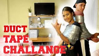 DUCT TAPE ESCAPE CHALLENGE GONE WRONG!! Going to Walmart duct taped....KALI Y GAMI