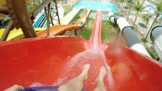 Ramubrinka - Red Tube Slide (Beach Park, Brazil) - HD POV