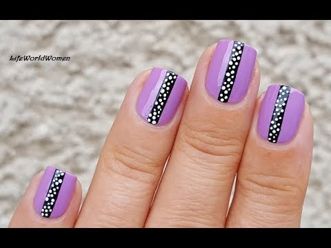 TAPE & TOOTHPICK NAIL ART