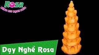 Tỉa Tháp Phước Duyên - chùa Thiên Mụ từ cà rốt
