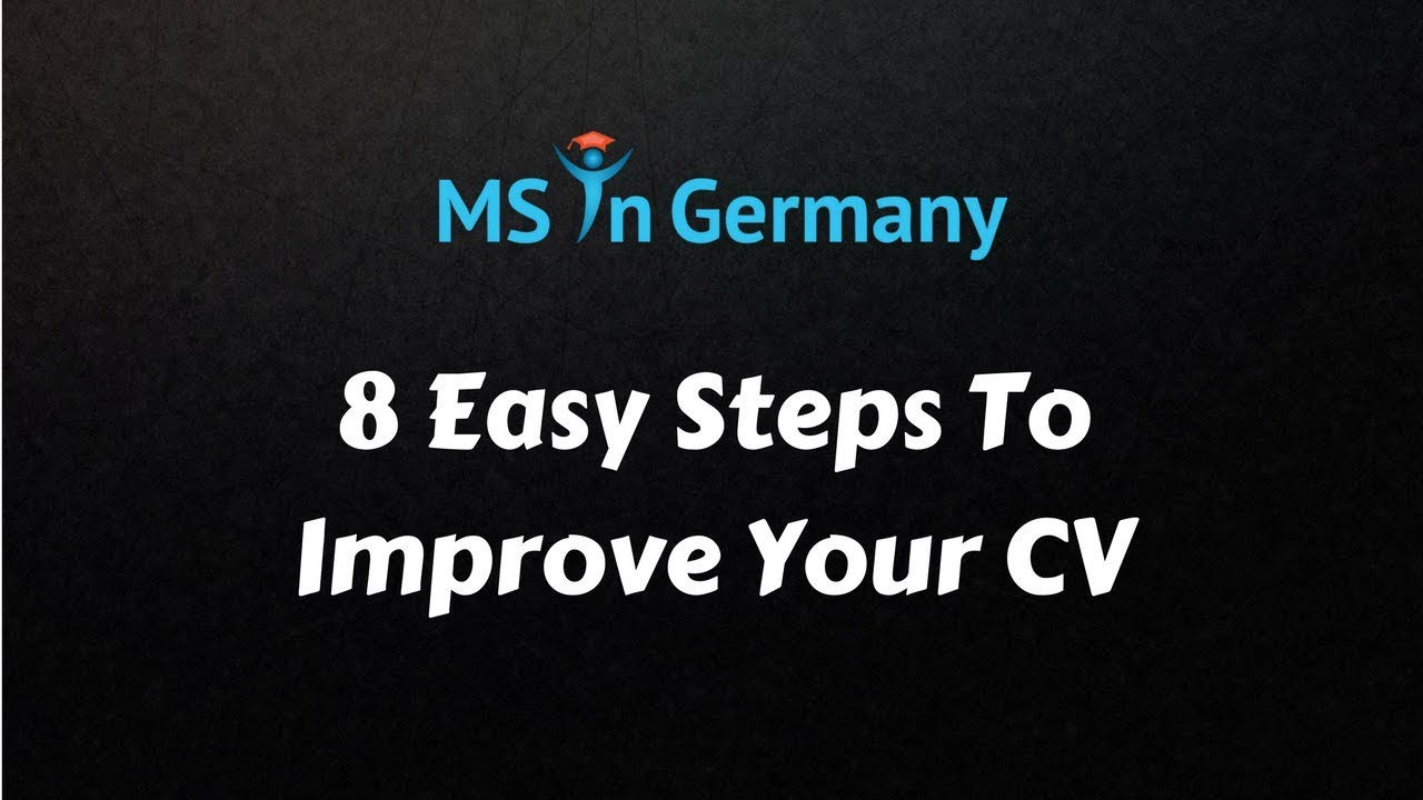 Curriculum Vitae | MS in Germany