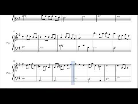 Minuet in G Major Sheet Music for Piano Bach Classical Music