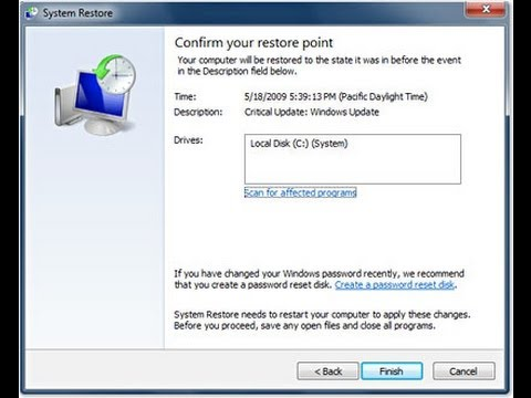 How To Do A System Restore From Safe Mode (Windows 7)
