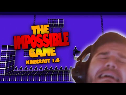 I HATE THIS GAME DON'T PLAY IT   The IMPOSSIBLE Game in Minecraft (Geometry Dash CHALLENGE)