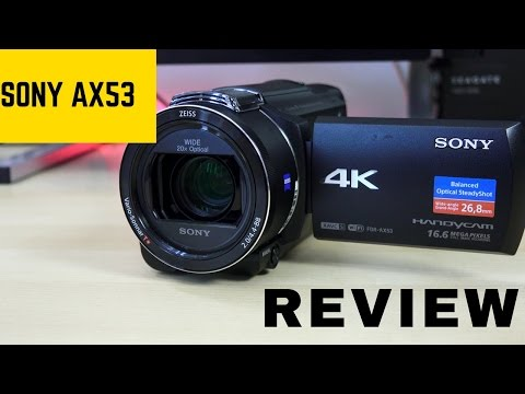 Sony FDR AX53 Handycam: Perfect YouTube 4K Camera!!!