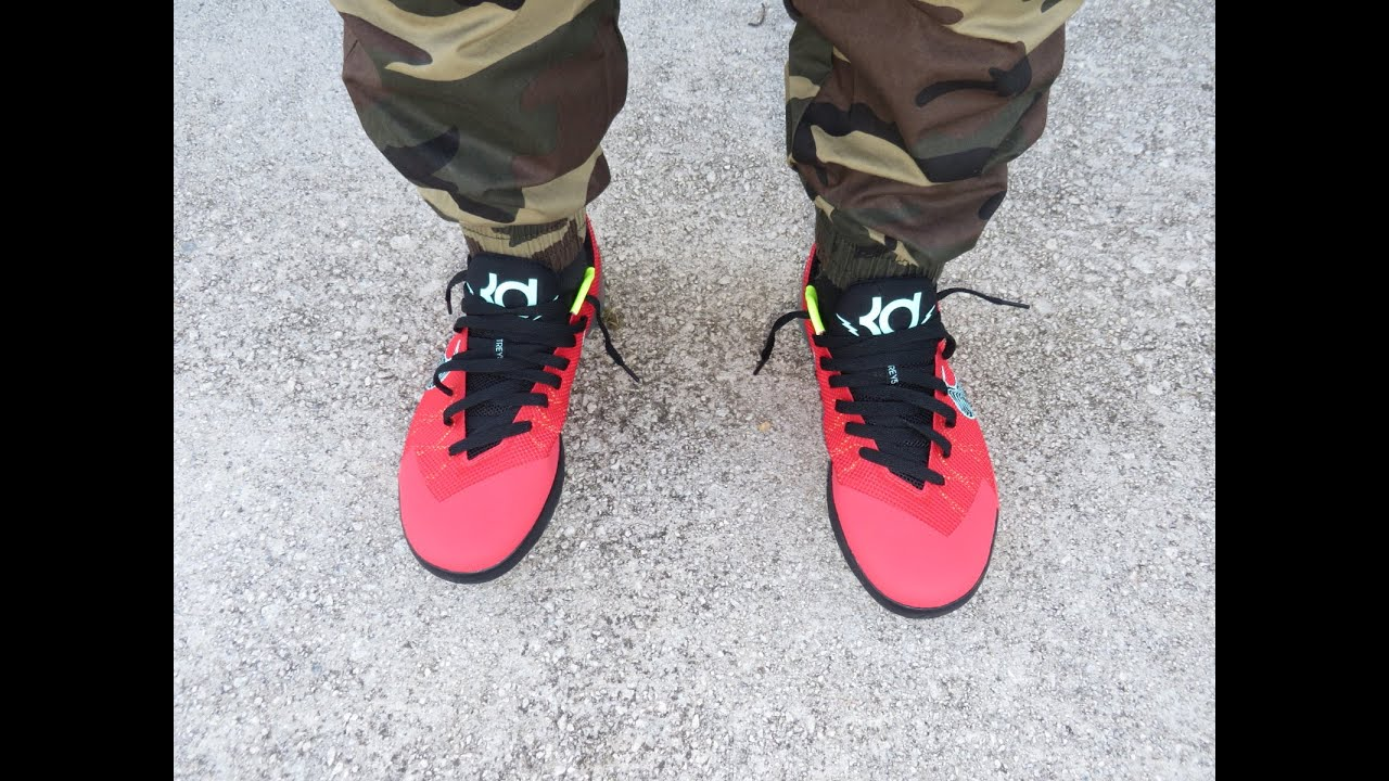 quality design 15cfa 863ed KD TREY 5 II  ACTION RED  REVIEW AND ON FEET!!!