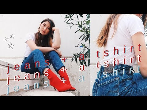 JEANS + A TSHIRT // 3 everyday outfit ideas