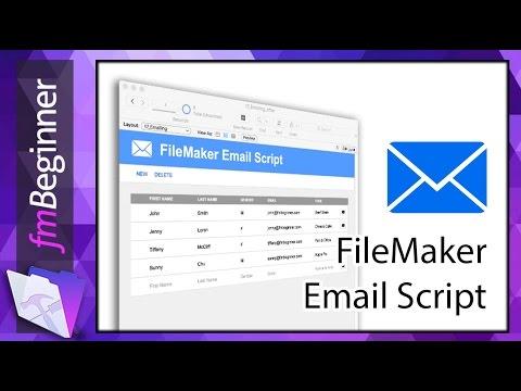 FileMaker Beginner Tutorial   Email Script