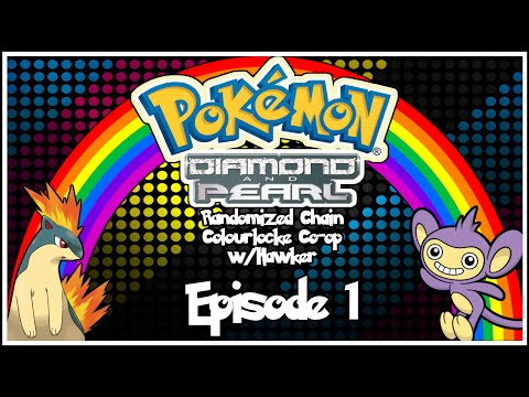 Pokémon Diamond/Pearl Randomized Chain Colourlocke Co-op w/ Hawker - Episode 1