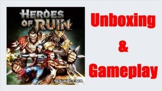 Heroes Of Ruin Nintendo 3DS Unboxing + Gameplay Video