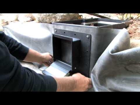 Pond skimmer installation how to youtube for Koi pond skimmer