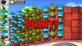 Plants vs Zombies | All Zombie vs All Plants Survival Roof