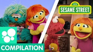 Sesame Street: Play and Sing with Julia! | Julia Compilation