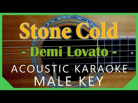 Stone Cold - Demi Lovato [Acoustic Karaoke   Male Key]