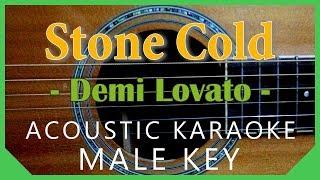 Stone Cold - Demi Lovato [Acoustic Karaoke   Male Key] Resimi
