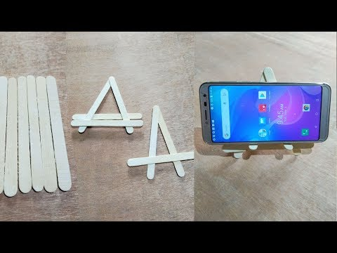 How to make mobile stand popsicle stick, diy popsicle stick mobile stand